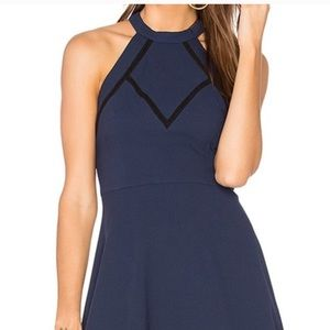 BCBG navy halter dress size 2